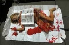 Association Peta. Semaine mondiale de l'abolition de la viande- 2012.